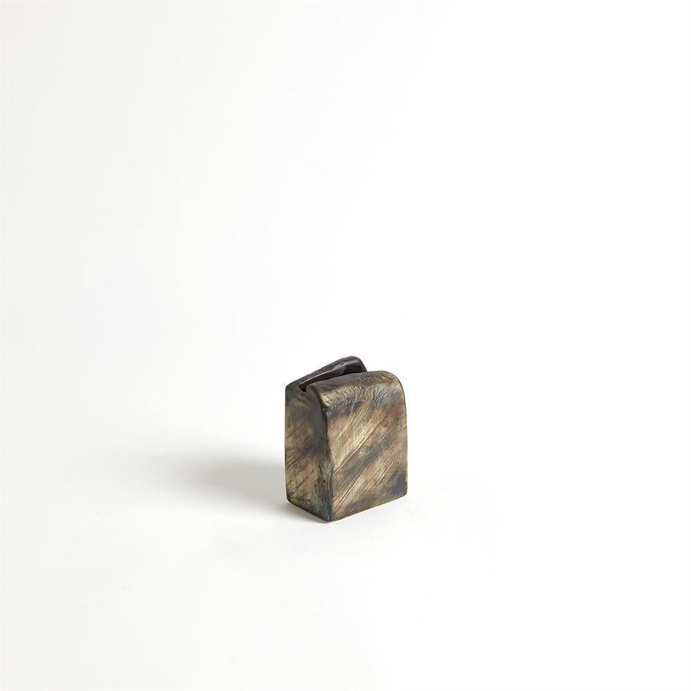 Global Views - Square Henge Block Vase, Hand Washed, Medium