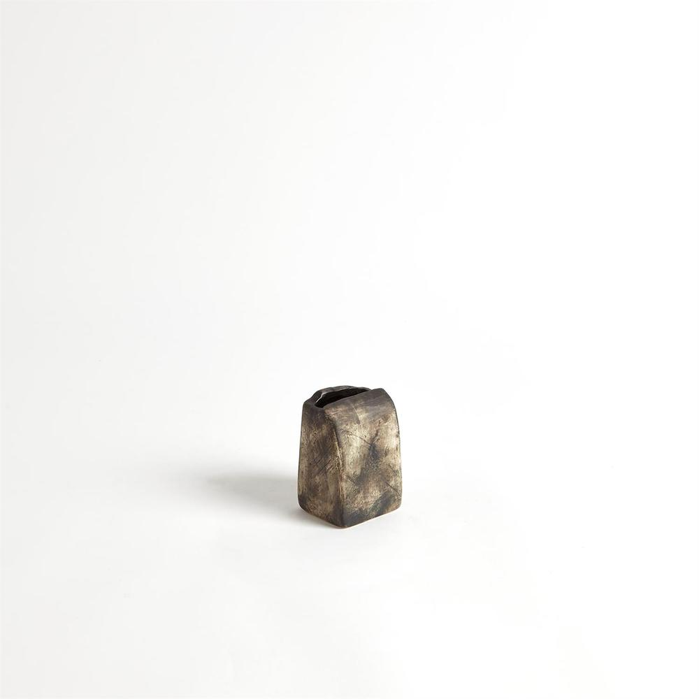 Global Views - Square Henge Block Vase, Hand Washed, Small