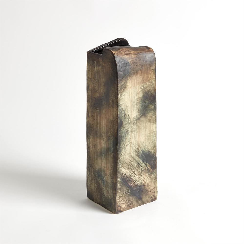 GLOBAL VIEWS - Vertical Henge Block Vase, Hand Washed, Extra Large