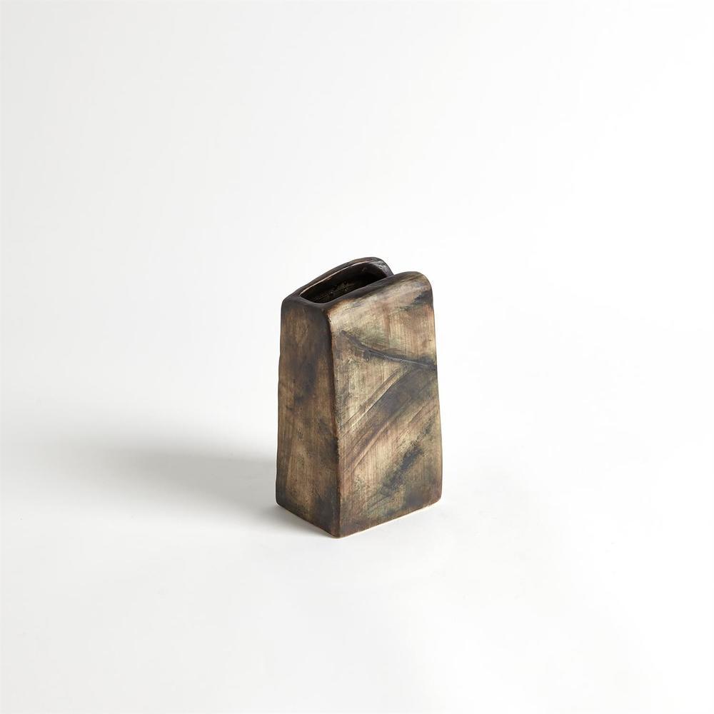 Global Views - Vertical Henge Block Vase, Hand Washed, Large