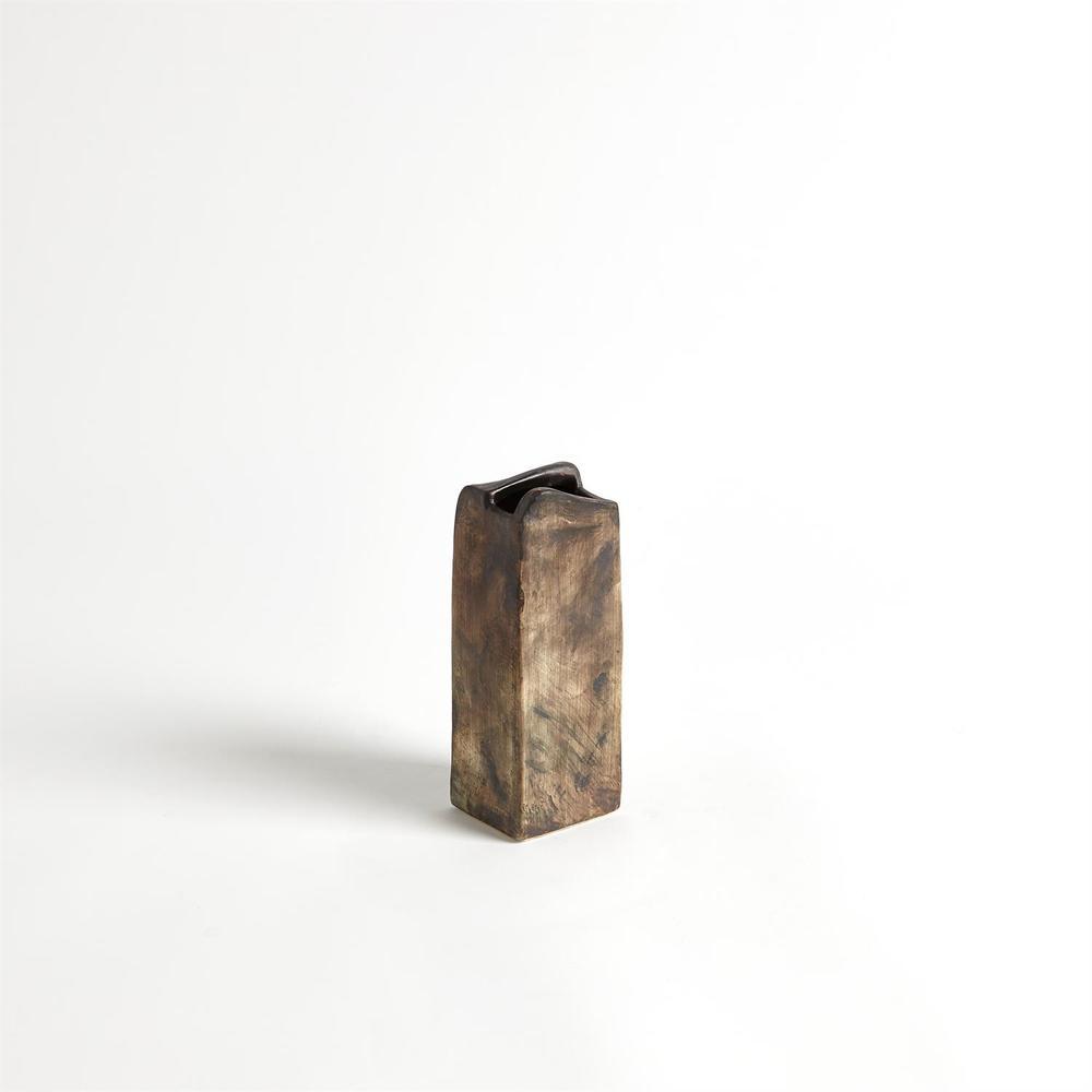 Global Views - Vertical Henge Block Vase, Hand Washed, Medium