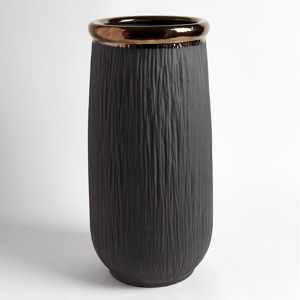 Global Views - Rolled Bronze Banded Container