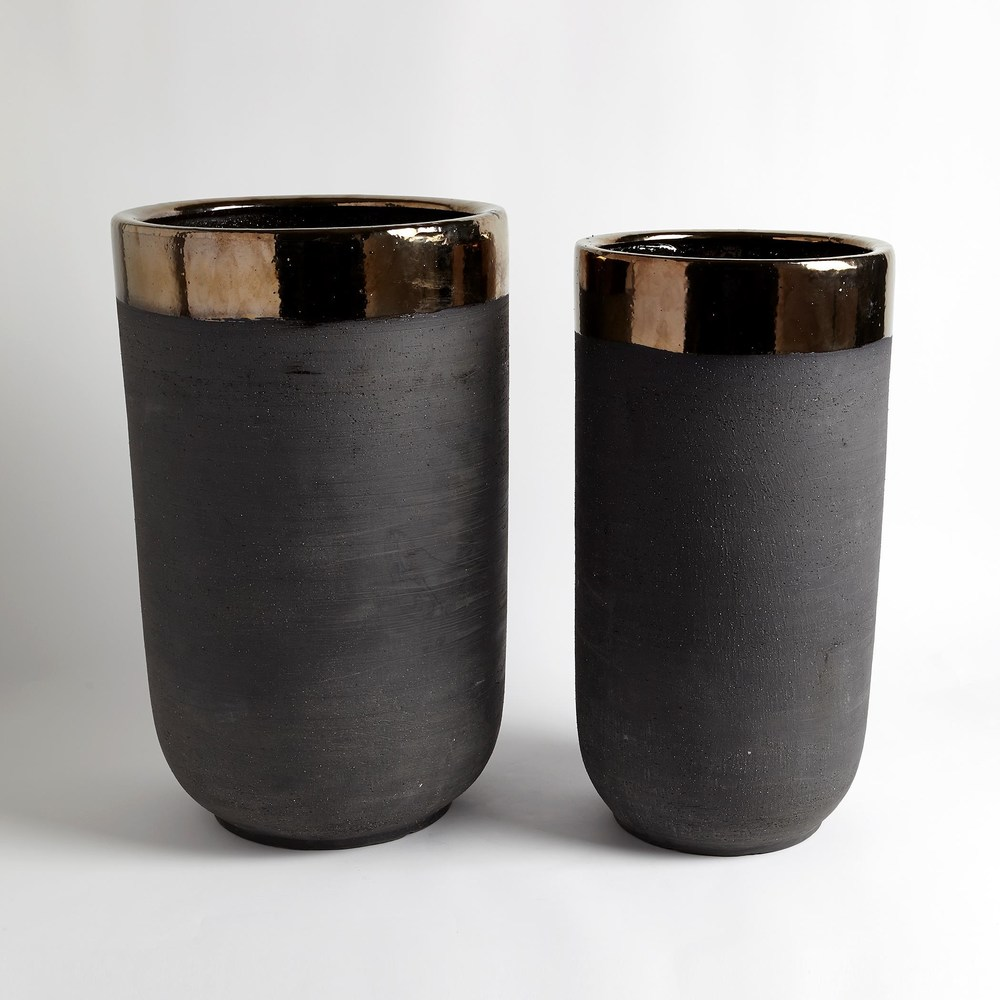 Global Views - Banded Bronze Container, Large