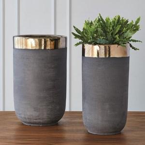 Thumbnail of Global Views - Banded Bronze Container, Small
