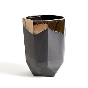 Thumbnail of Global Views - Faceted Banded Bronze Container, Medium