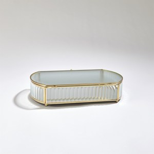 Thumbnail of Global Views - Reeded Glass Oval Box, Large