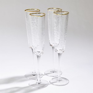 Thumbnail of Global Views - Hammered Champagne Glasses, Set/4