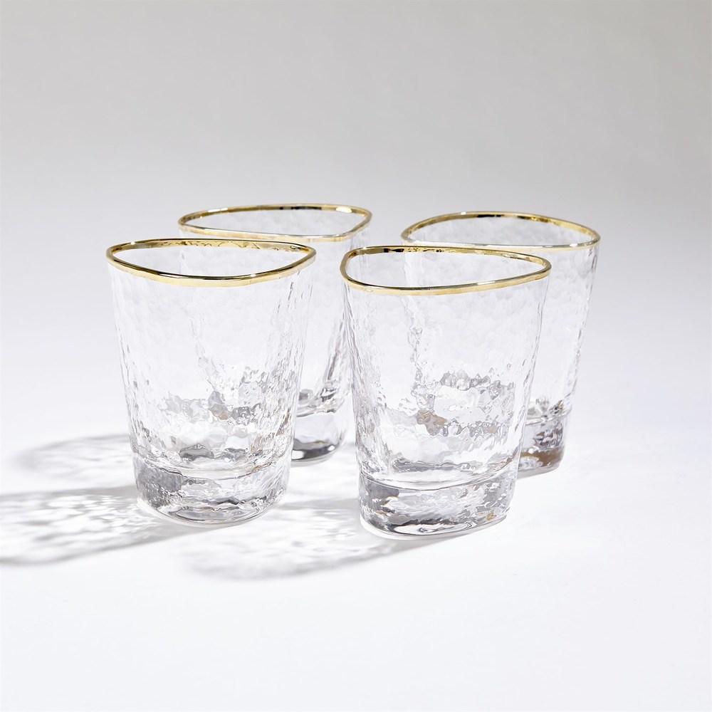 Global Views - Hammered Water Glasses, Set/4