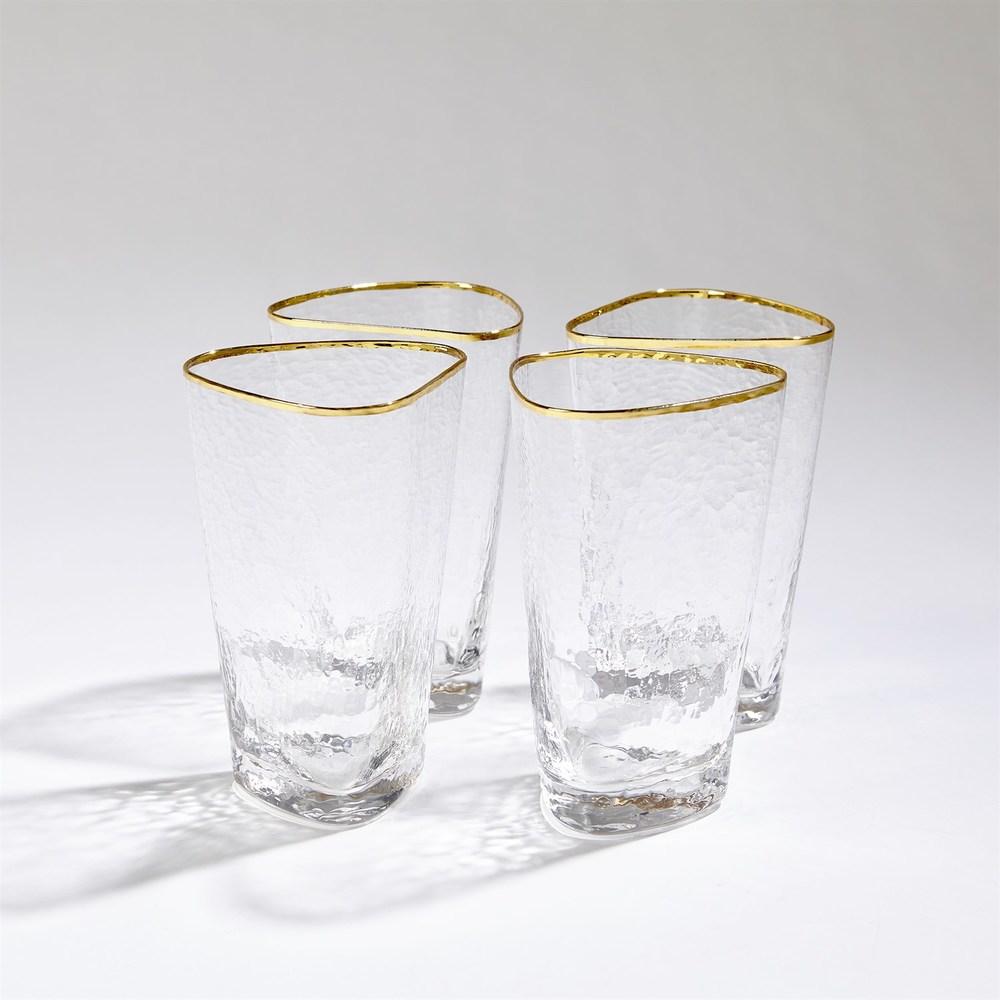 Global Views - Hammered High Ball Glasses, Set/4