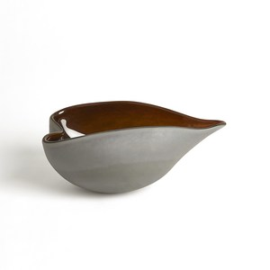 Thumbnail of GLOBAL VIEWS - Frosted Grey Bowl with Amber Casing, Small