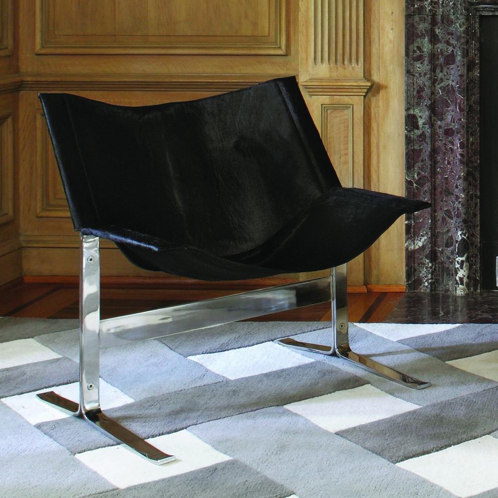 Global Views - Cantilever Chair, Black