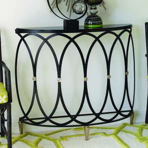Thumbnail of Global Views - Ovoid Demilune Console Table