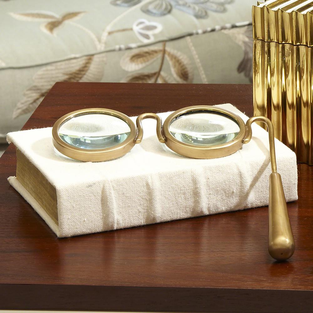 Global Views - Lorgnette Magnifying Glass, Brass