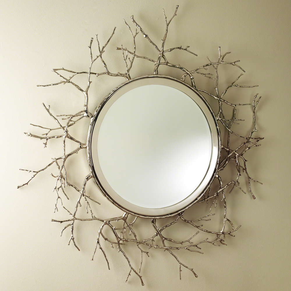 Global Views - Twig Mirror, Nickel