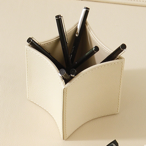 Thumbnail of Global Views - Folded Leather Pencil Cup
