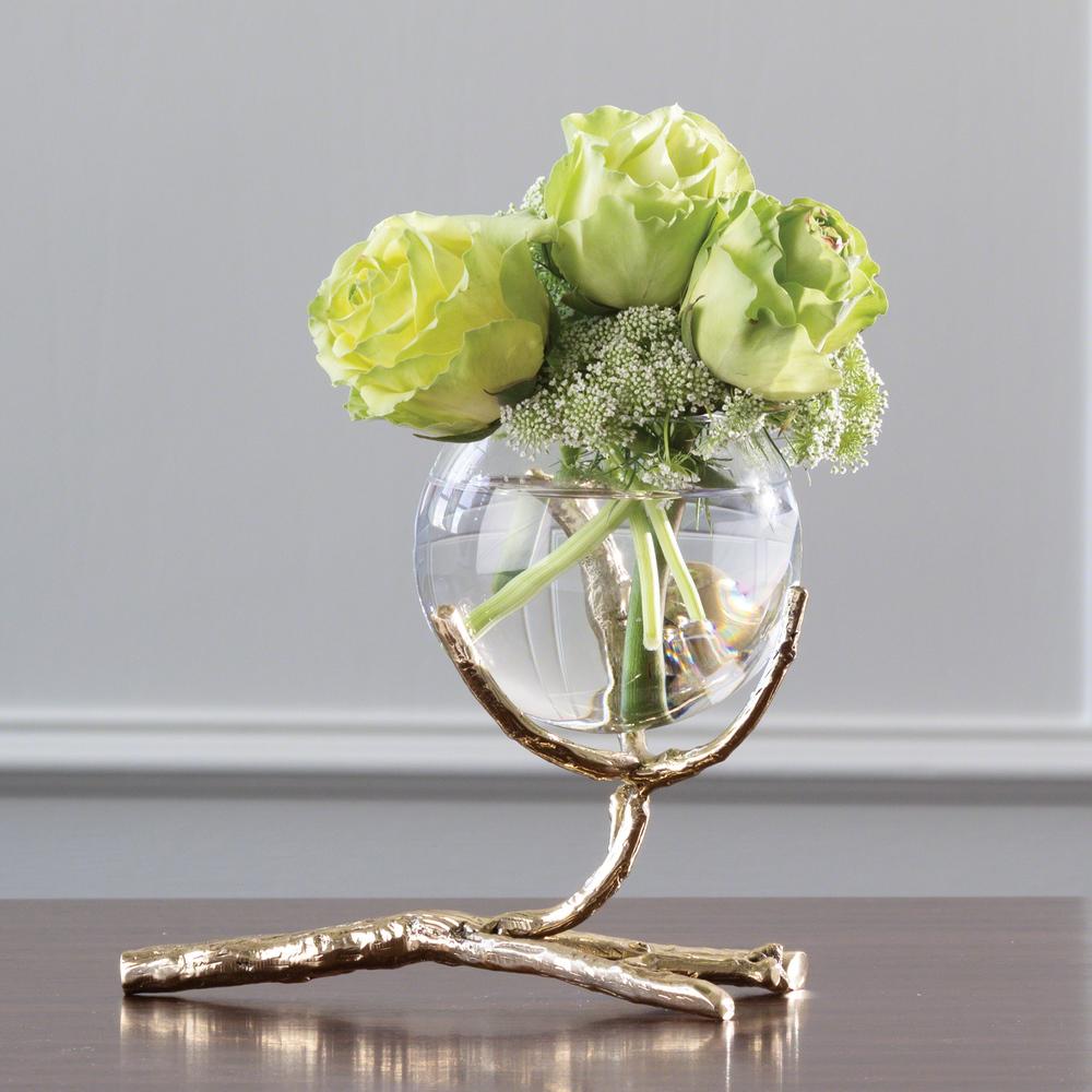 Global Views - Twig Vase Holder, Brass