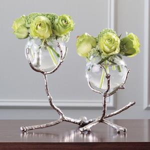 Thumbnail of Global Views - Twig Two Vase Holder, Nickel