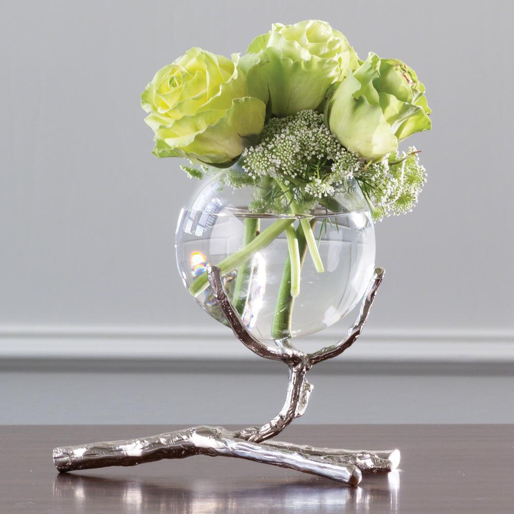 Global Views - Twig Vase Holder, Nickel