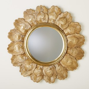Thumbnail of Global Views - Peacock Feather Mirror, Brass