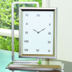 Thumbnail of Global Views - Time to Reflect Clock, Antique Silver