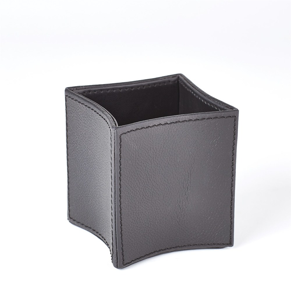 Global Views - Folded Leather Pencil Cup