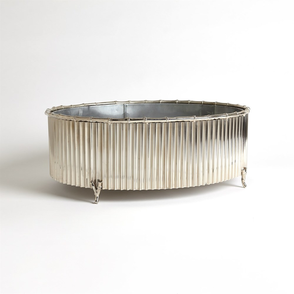 GLOBAL VIEWS - Corrugated Bamboo Cachepot