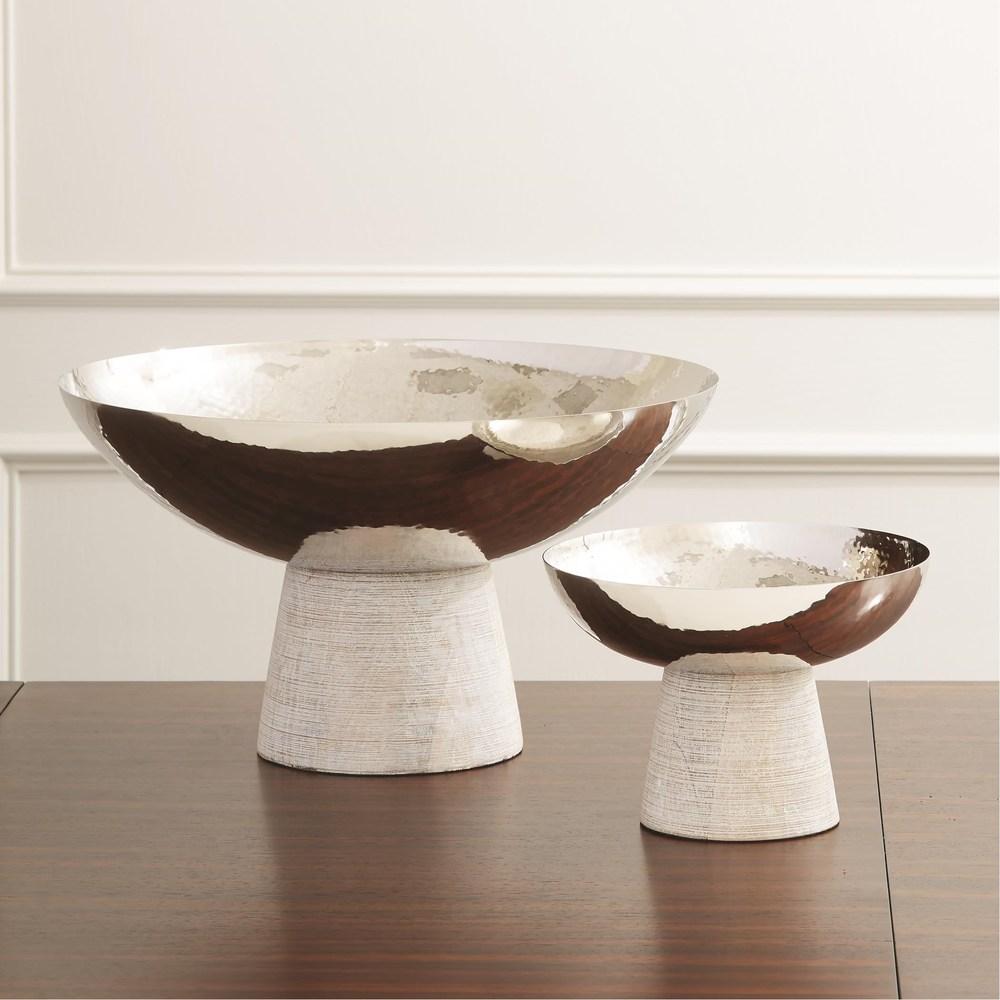 Global Views - Totem Bowl, Whitewash, Small
