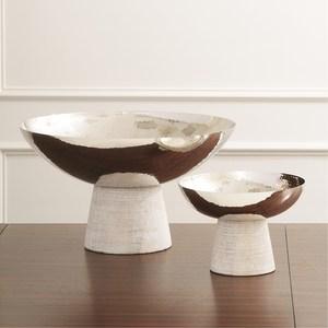 Thumbnail of Global Views - Totem Bowl, Whitewash, Small