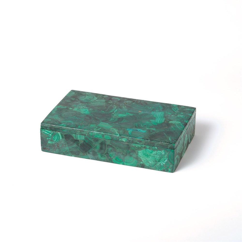 Global Views - Malachite Stone Box