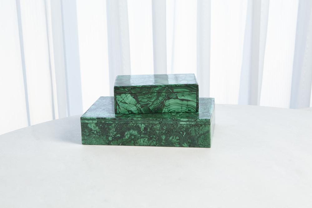 Global Views - Malachite Stone Box