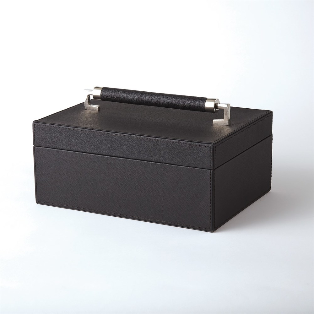 GLOBAL VIEWS - Wrapped Leather Handle Box
