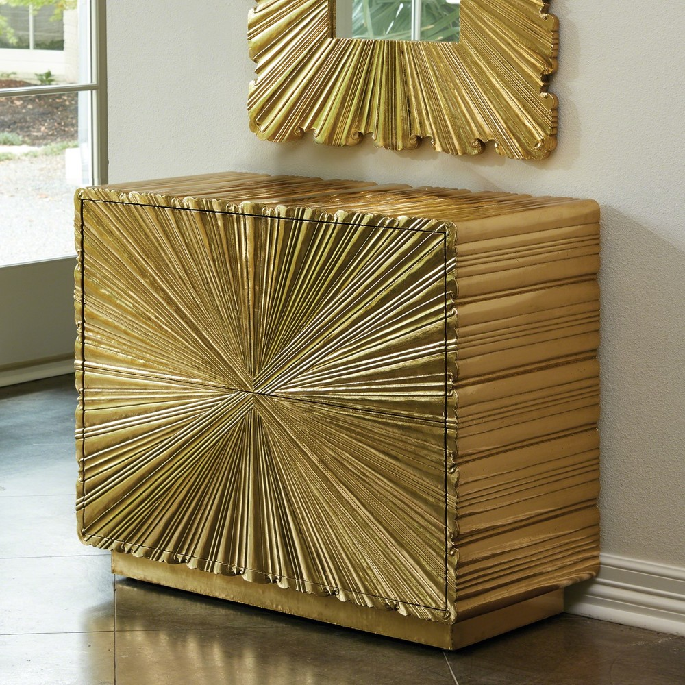 Global Views - Linenfold Two Drawer Chest