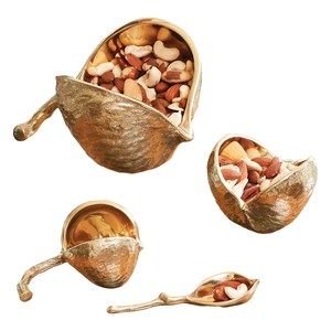 Thumbnail of Global Views - Chestnut Bowl, Brass, Small