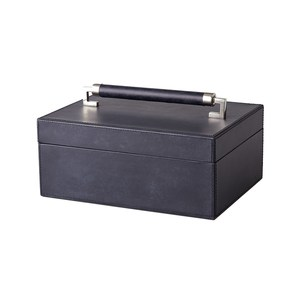 Thumbnail of Global Views - Wrapped Leather Handle Box