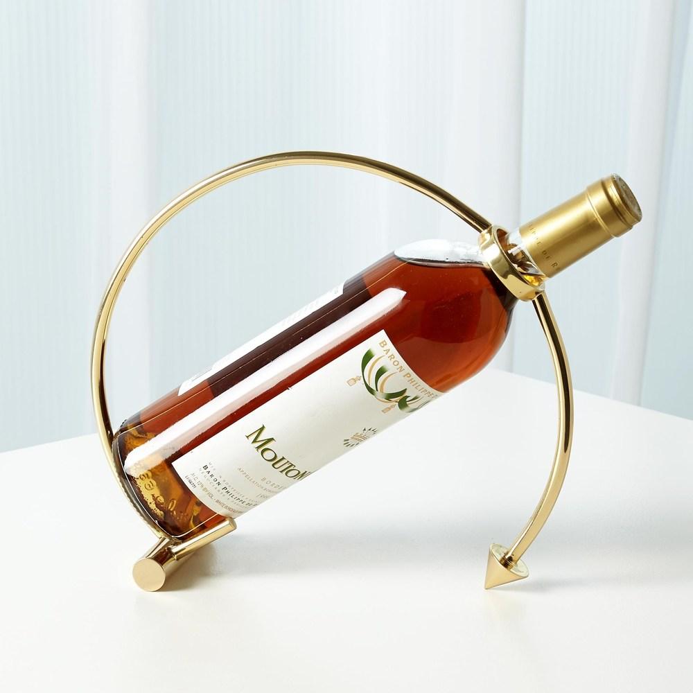 Global Views - Arrow Wine Caddy, Brass