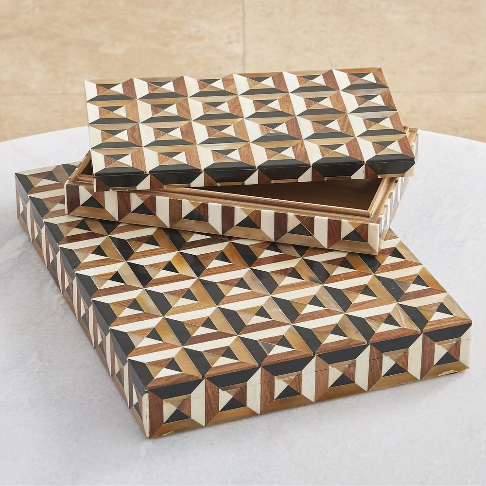 Global Views - Triangle Marquetry Box, Small