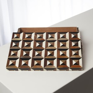 Thumbnail of Global Views - Triangle Marquetry Box, Small