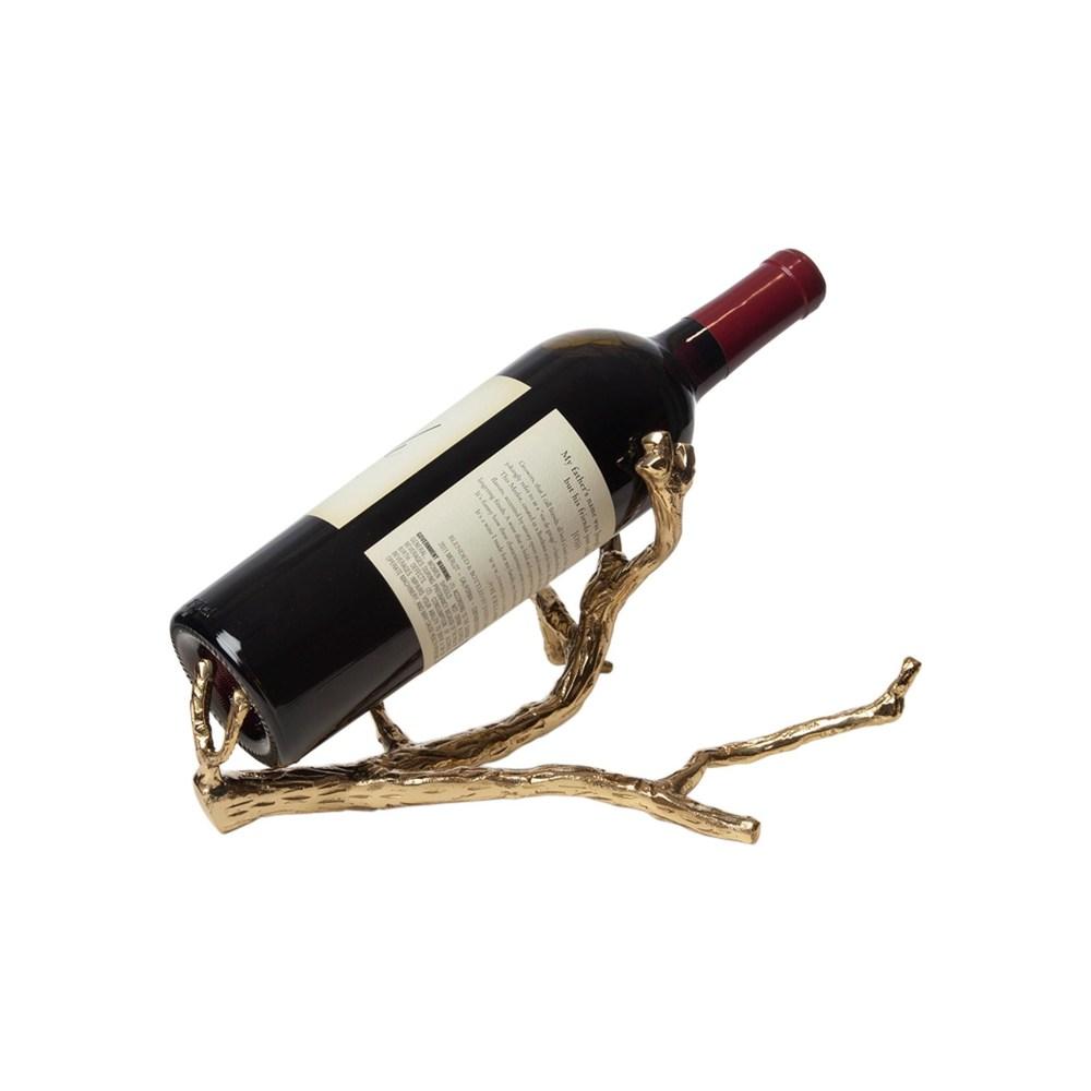 Global Views - Twig Wine Bottle Holder, Brass