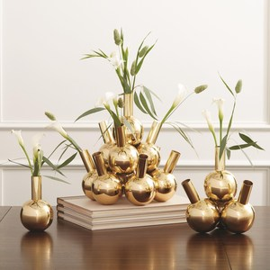Thumbnail of Global Views - Single Bottle Vase, Brass