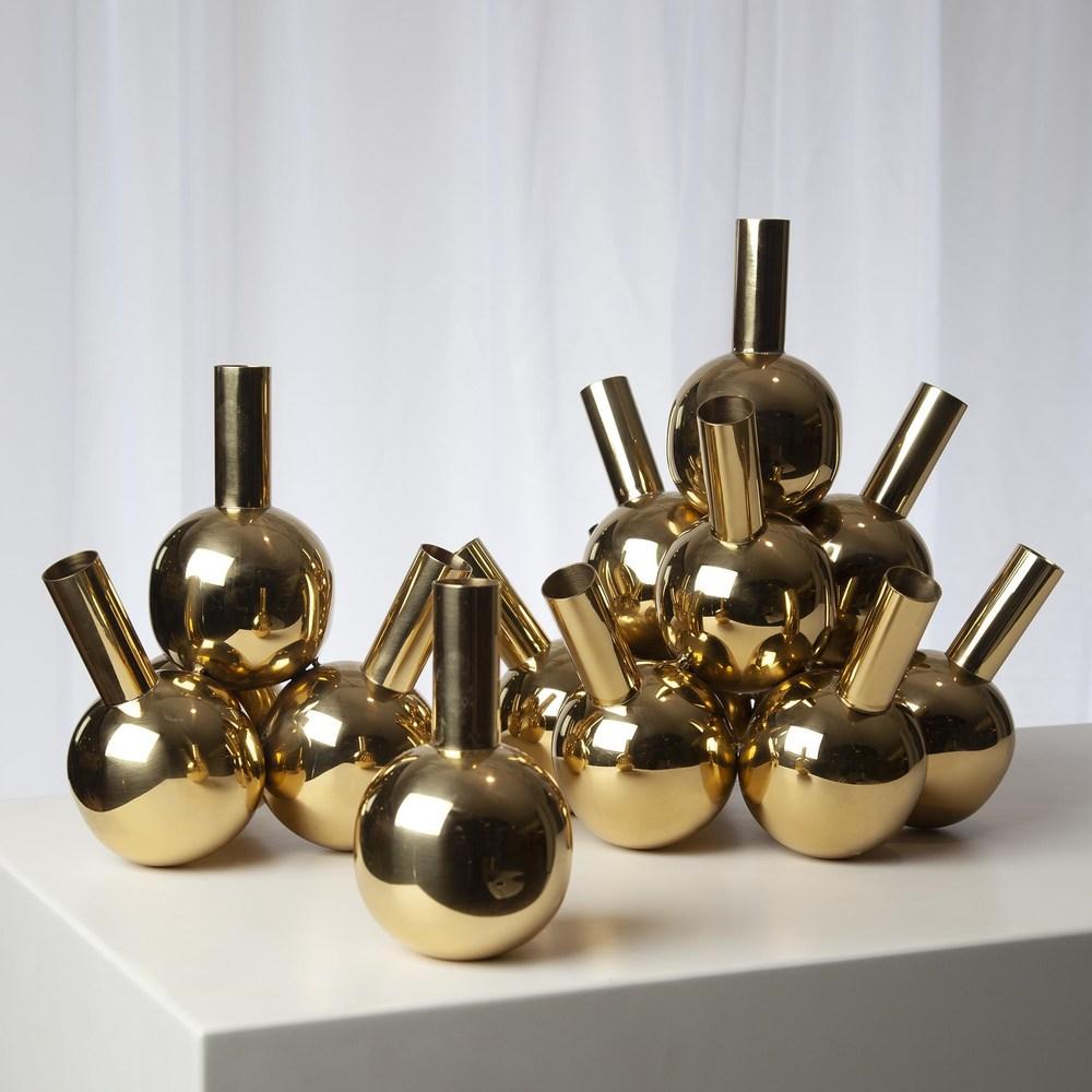 Global Views - Single Bottle Vase, Brass