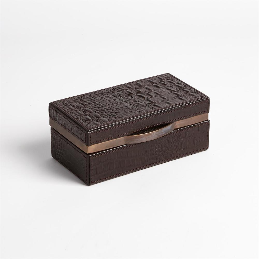 GLOBAL VIEWS - Croc Box, Chocolate, Small