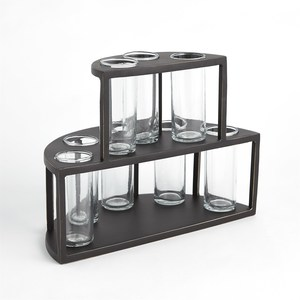 Thumbnail of Global Views - Two Tier Tube Flower Holder with Glass Tub