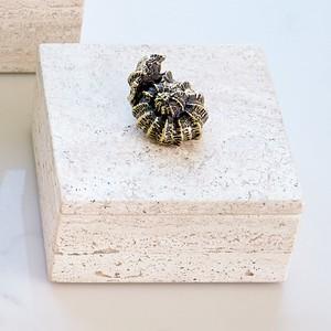 Thumbnail of GLOBAL VIEWS - Bronze Snail Travertine Box