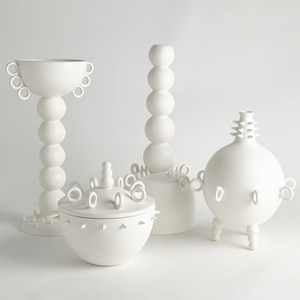 Thumbnail of Global Views - Rings Spikes Vase, Tall