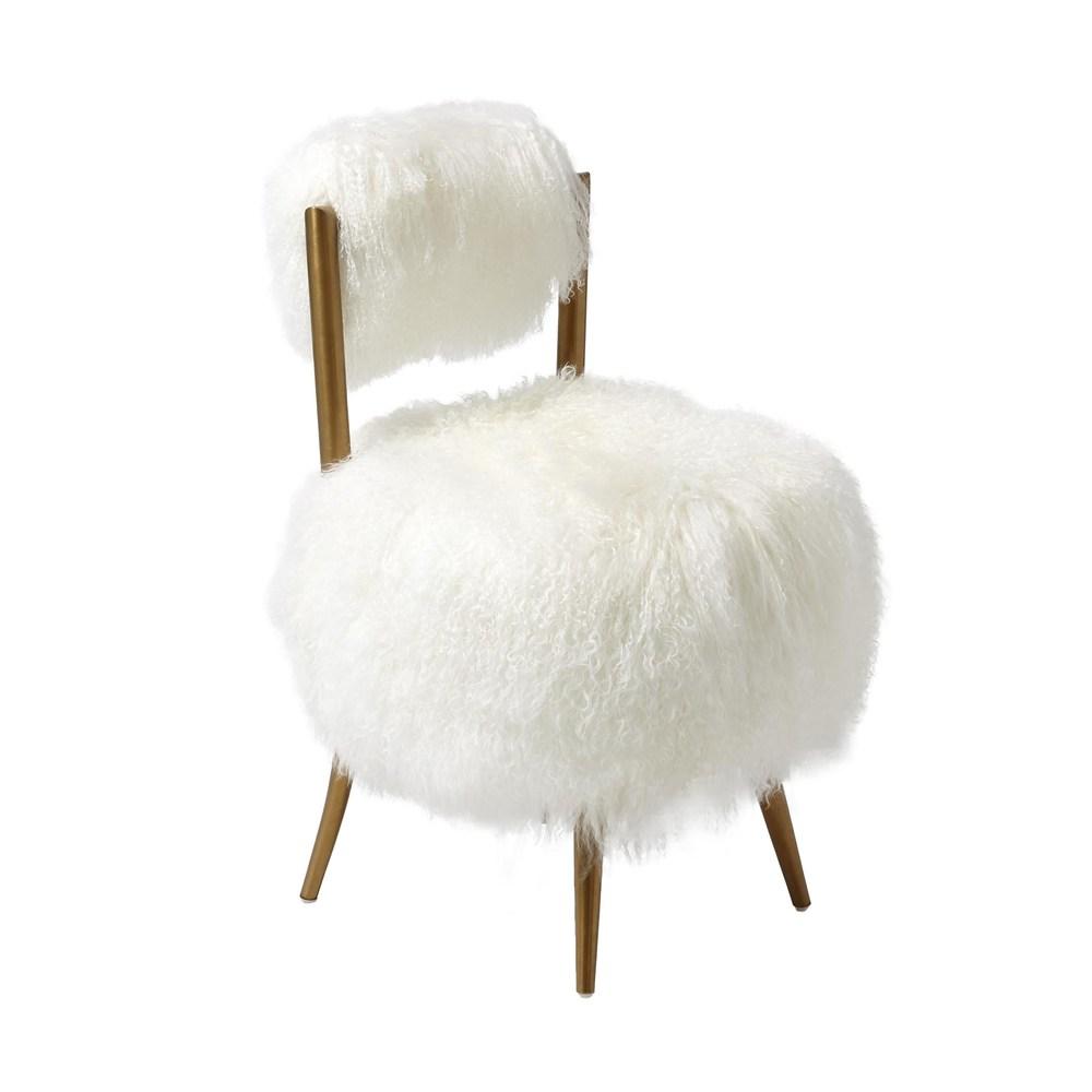 Global Views - Hailey Chair, Mongolian Lamb