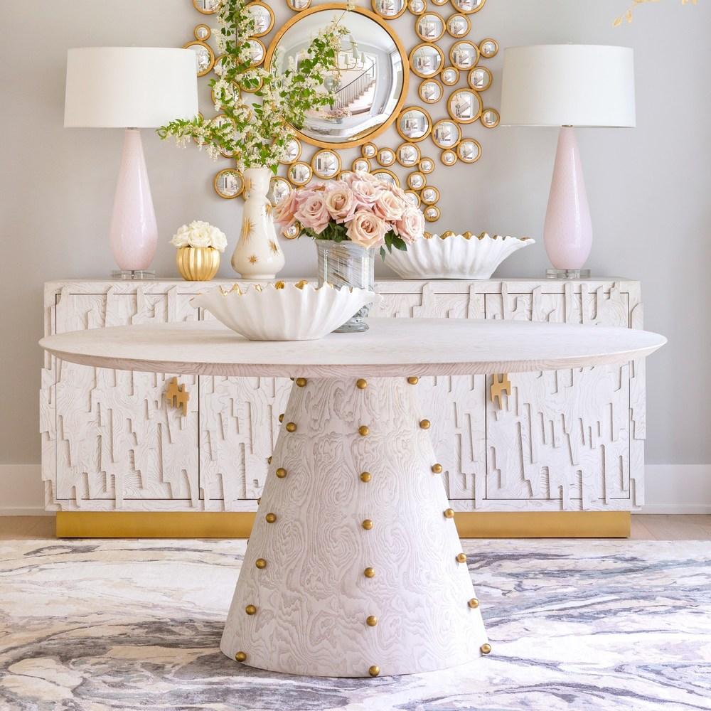 Global Views - Gold Starburst Vase, Large