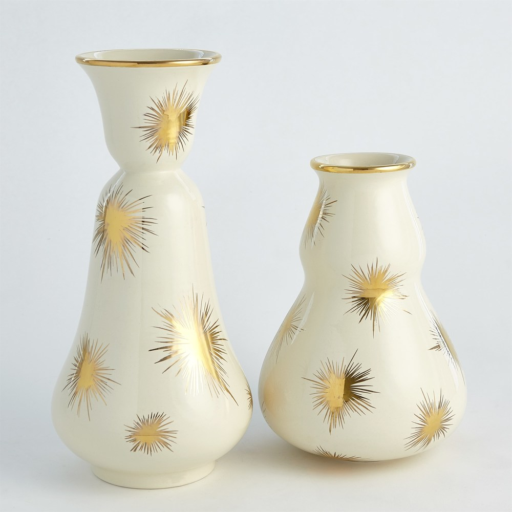 Global Views - Gold Starburst Vase, Small