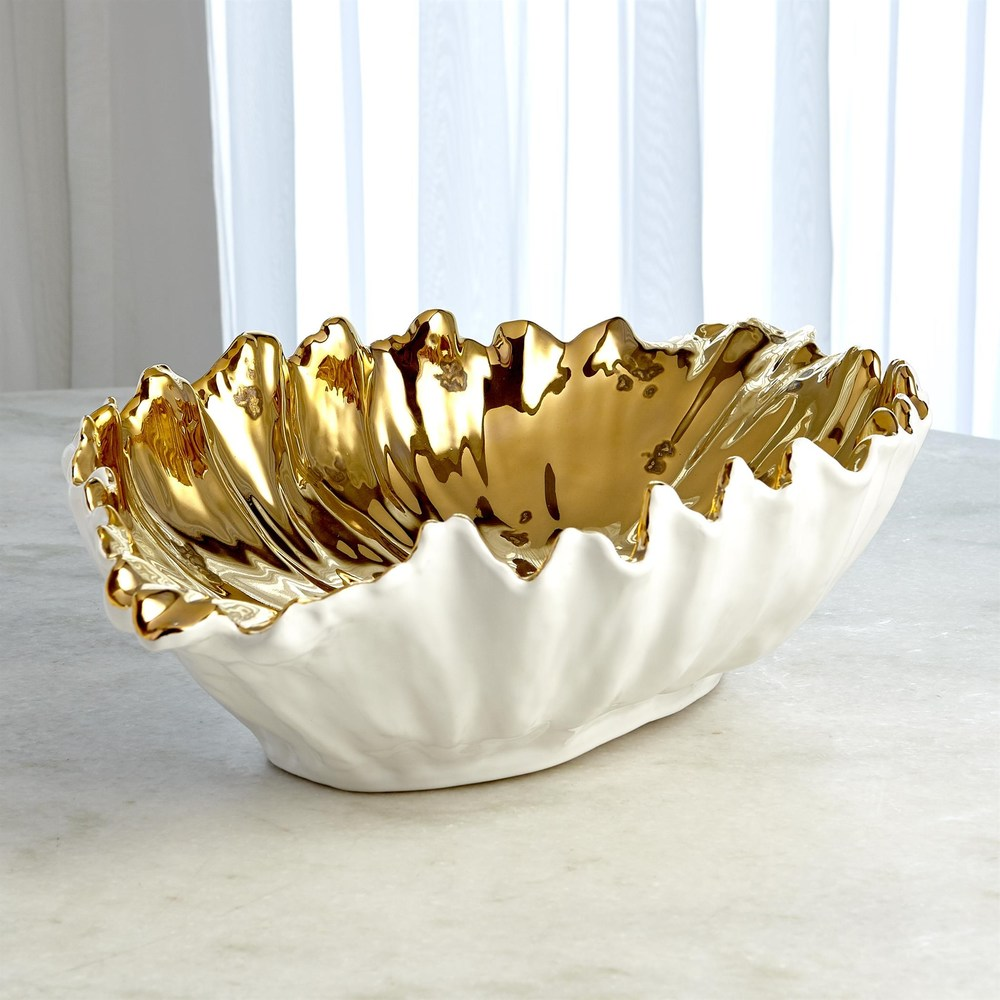 Global Views - Organic Wave Oval Bowl, Large