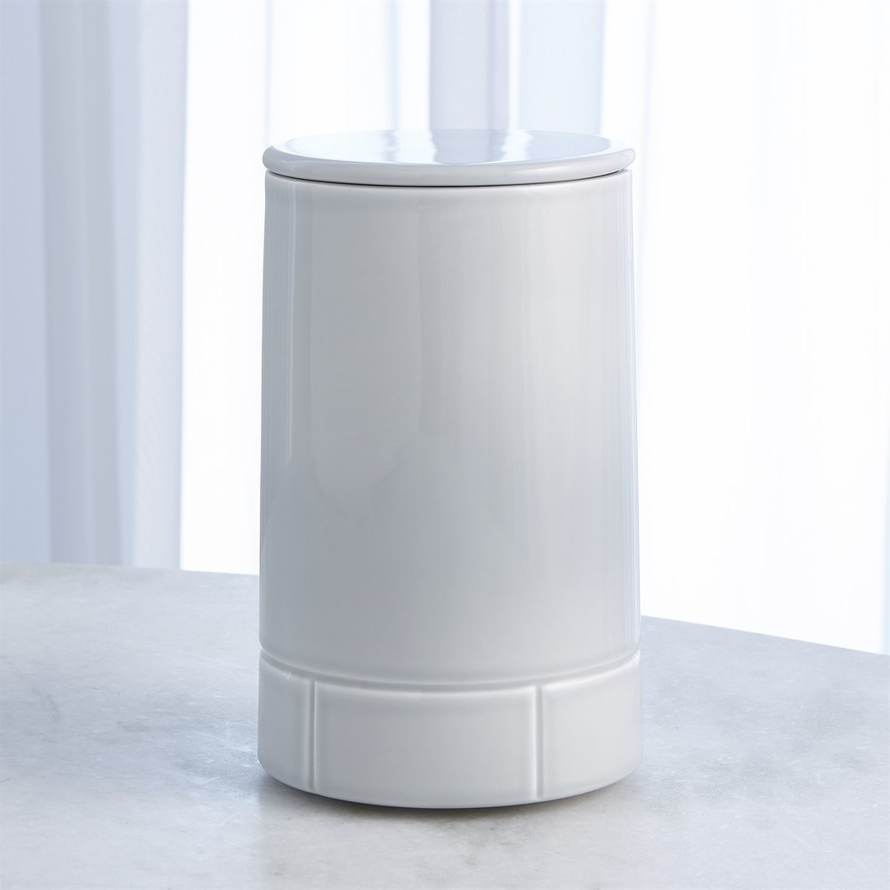 Global Views - Glassblock Canister with Cork Lid