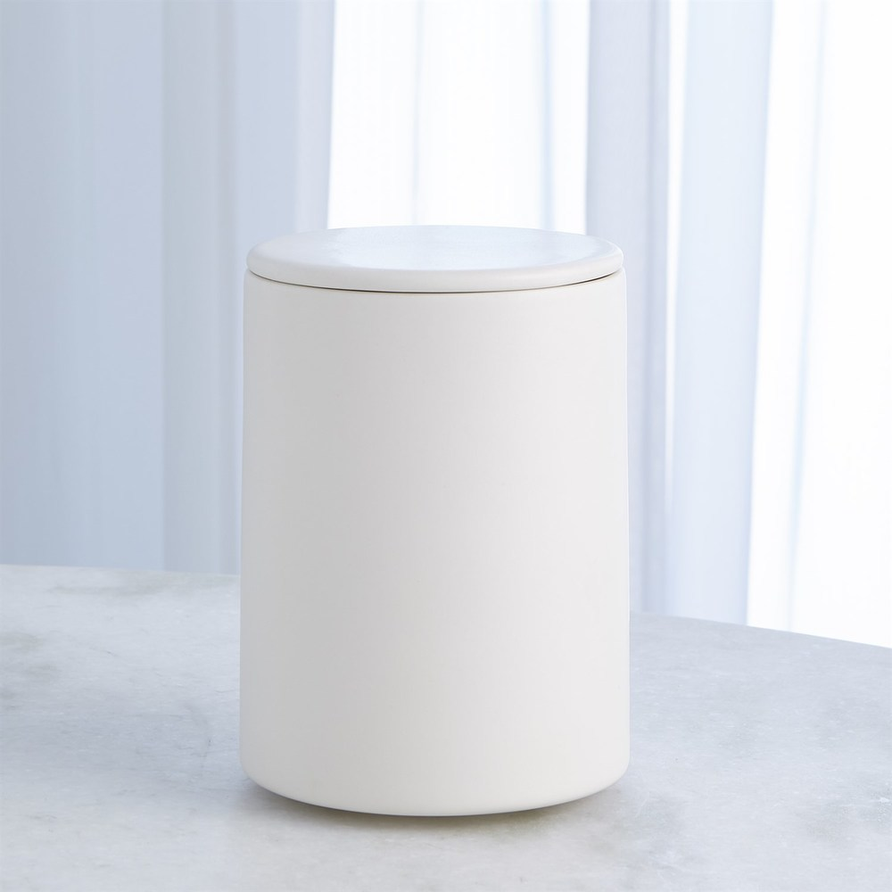 Global Views - Encircle Canister with Cork Lid, Medium